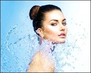 čisto lice voda