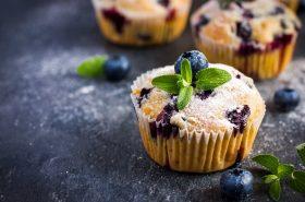 Zdrave borovnice u slatkom muffinu